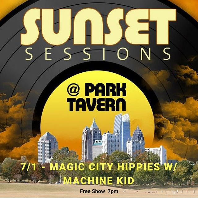 Can't wait to play Sunset Sessions at Park Tavern next Sunday with Magic City Hippies! Free show on Piedmont Park and we hit at 7pm sharp @magiccityhippies @parktavern
