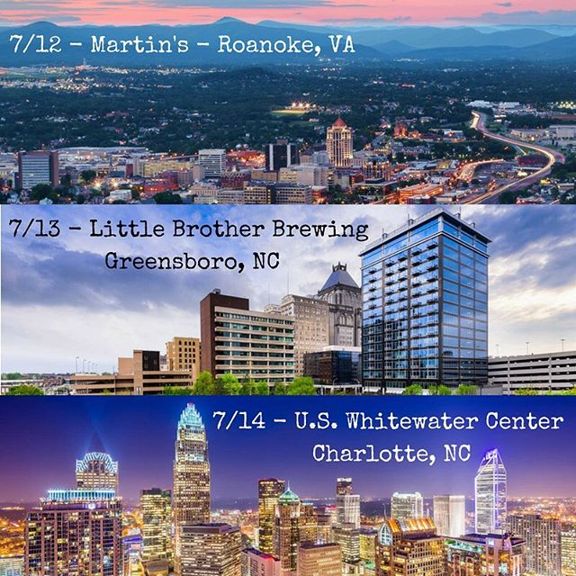 Gearing up to hit the road for another weekend of shows in VA and NC! Help us spread the word if you have friends in the area @martinsdowntown @littlebrotherbrew @usnwc