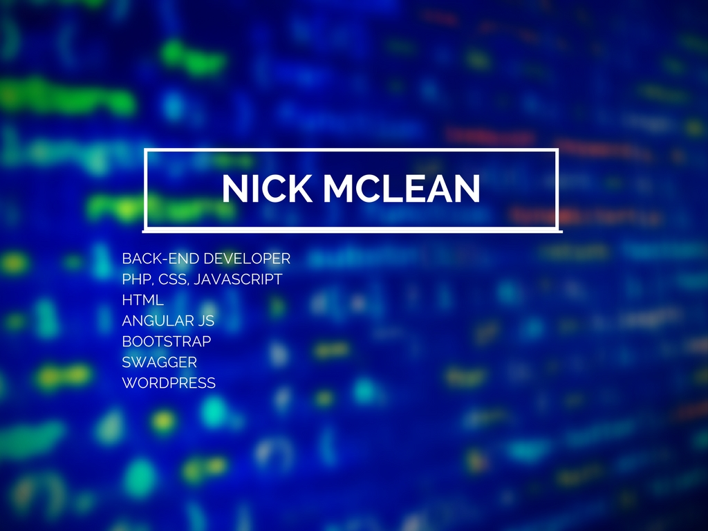 Nick McLean — The Well