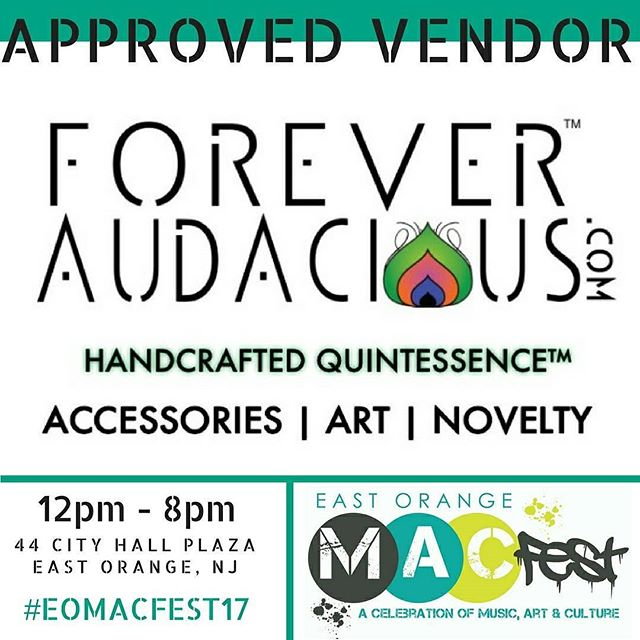 @ForeverAudacious Popping Up @eastorangemacfest with: 1. Summa this 2. Summa that 💫🌙💫 This Saturday @ East Orange MAC Fest  44 City Hall Plaza | EO, NJ  #foreveraudacious #leatherearrings #audaciouswomen  #rbg  #aficanprintcamerastraps #africanprintbandanas #pinbackbuttons #africanprontties #rosebudstuds #accessories #novelty #earringstagram #earringlove #EOMACFEST come true #supportyourlocal