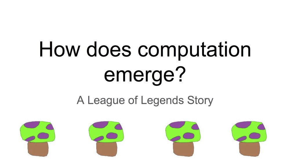 How can we study League of Legends as a model dataset for biology?   Research group meeting, 2015