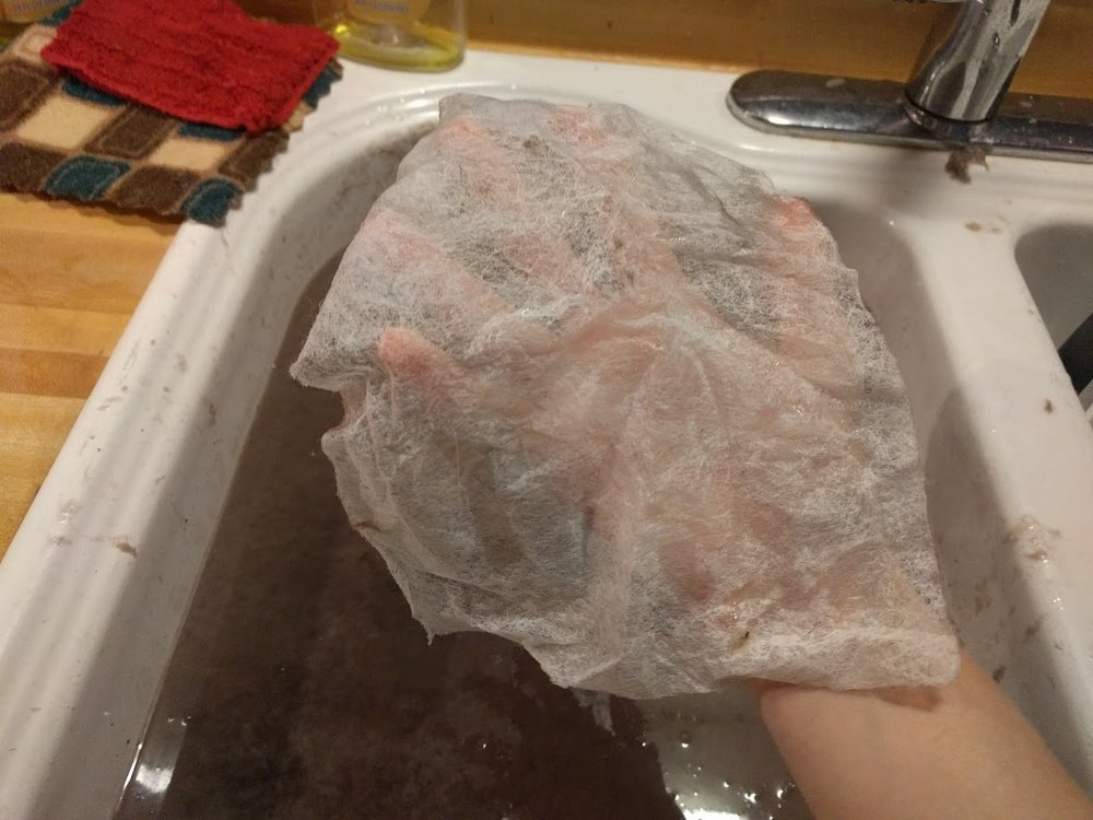 Oh! My handy-dandy used dryer sheets!