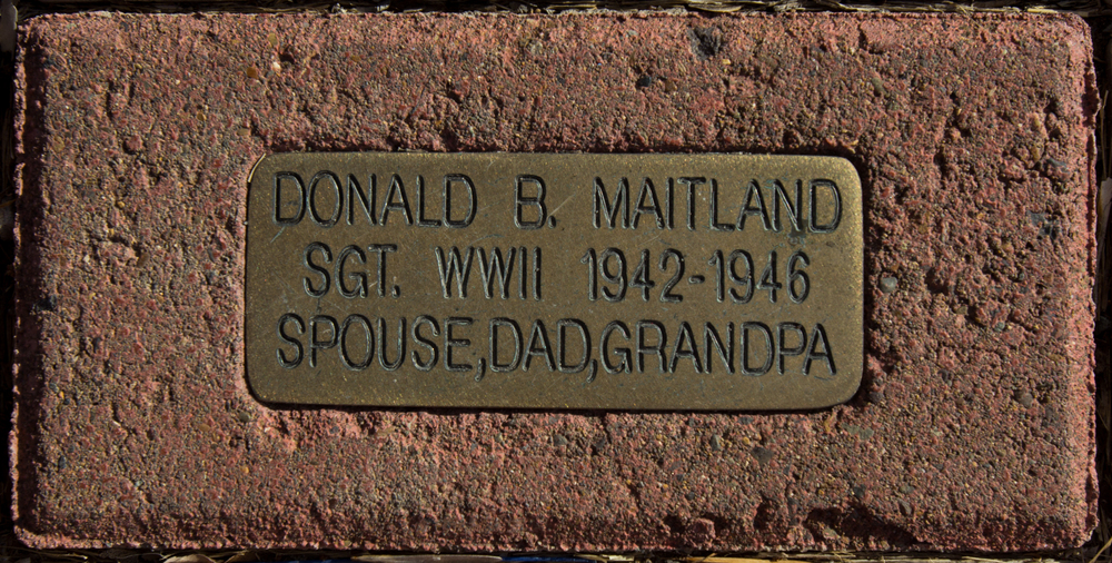 Example of Individual Brick For:  Walk of Honor