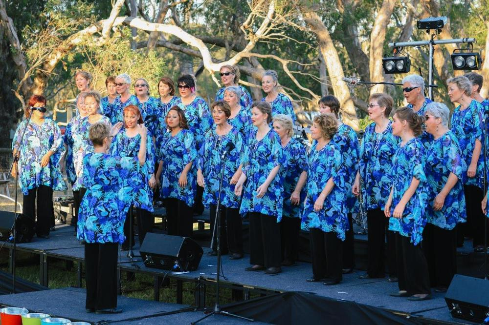 After listening to Wesley College boys play as part of  Altar Ego , we were entertained by the voices of the Perth Harmony Chorus, pictured here. They were followed by the young but talented John Septimus Roe Camerata.