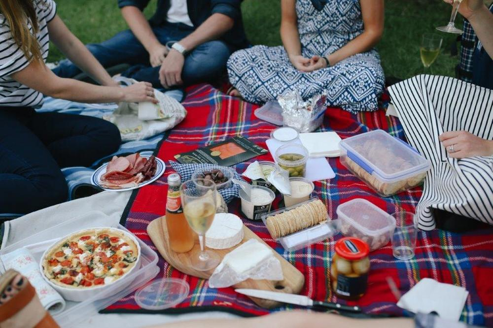 Guests brought delicious picnics and a few drinks to enjoy, as they relaxed with friends.