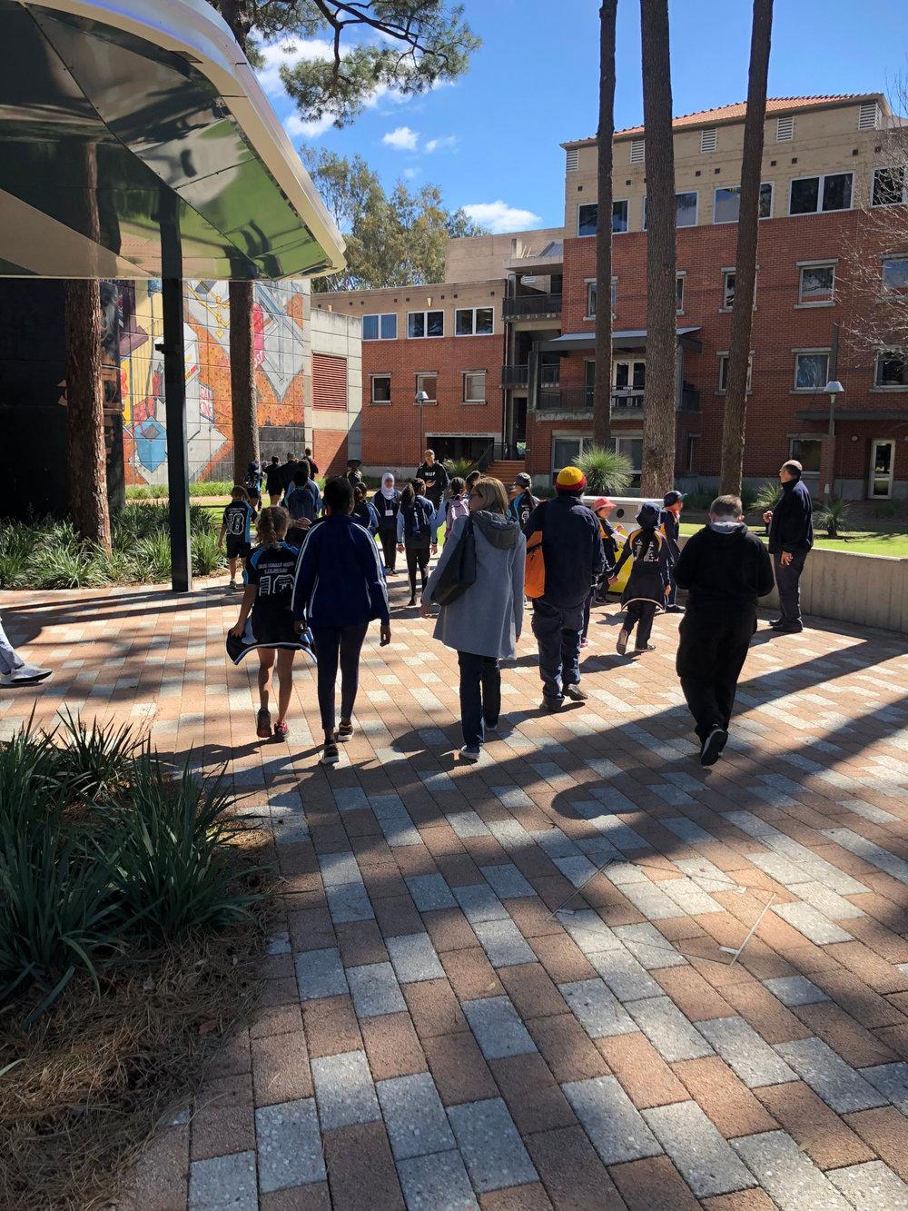Exploring the campus