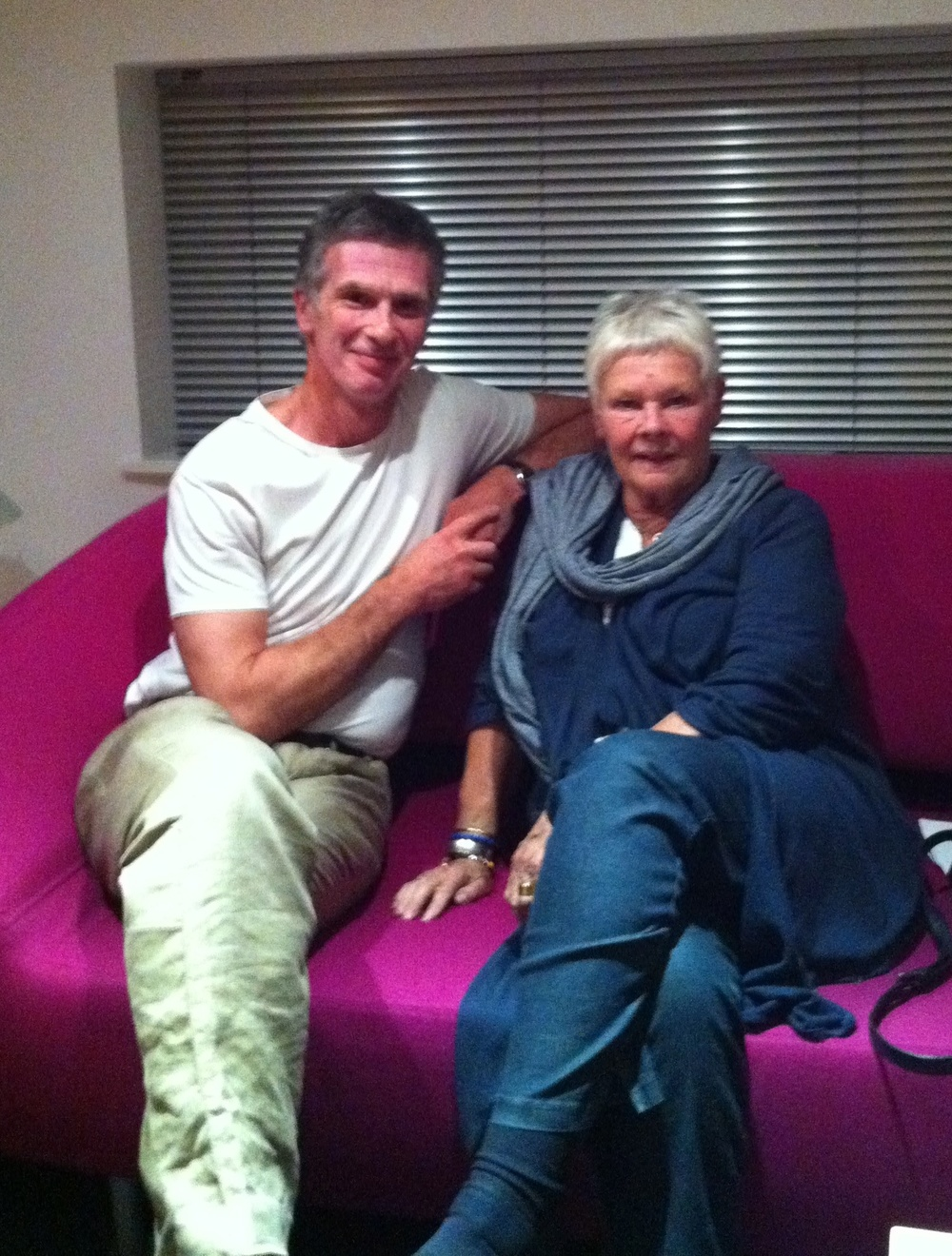 Dame judi dench with Ckuk director chris kent