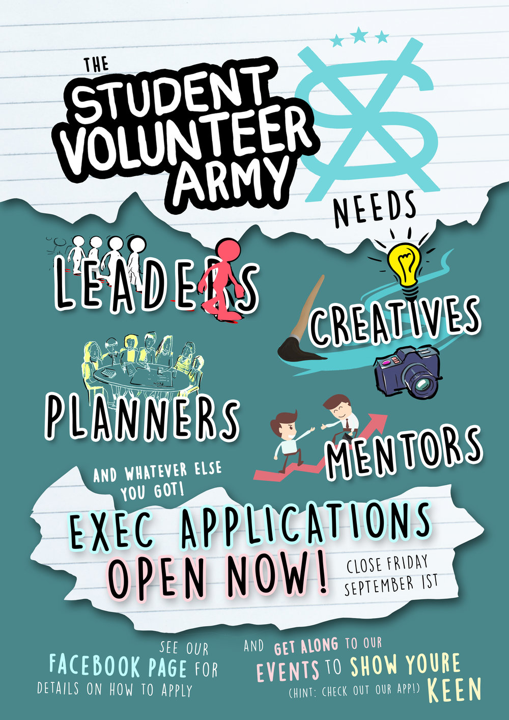 We're looking for enthusiastic students to join our team for 2017.   We want you!    Find out more