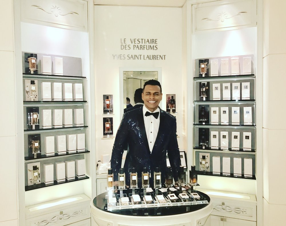 3d5af13e392a Eight fragrances, each interpreting a centerpiece of the emblematic Yves  Saint Laurent wardrobe. — at Bergdorf Goodman.