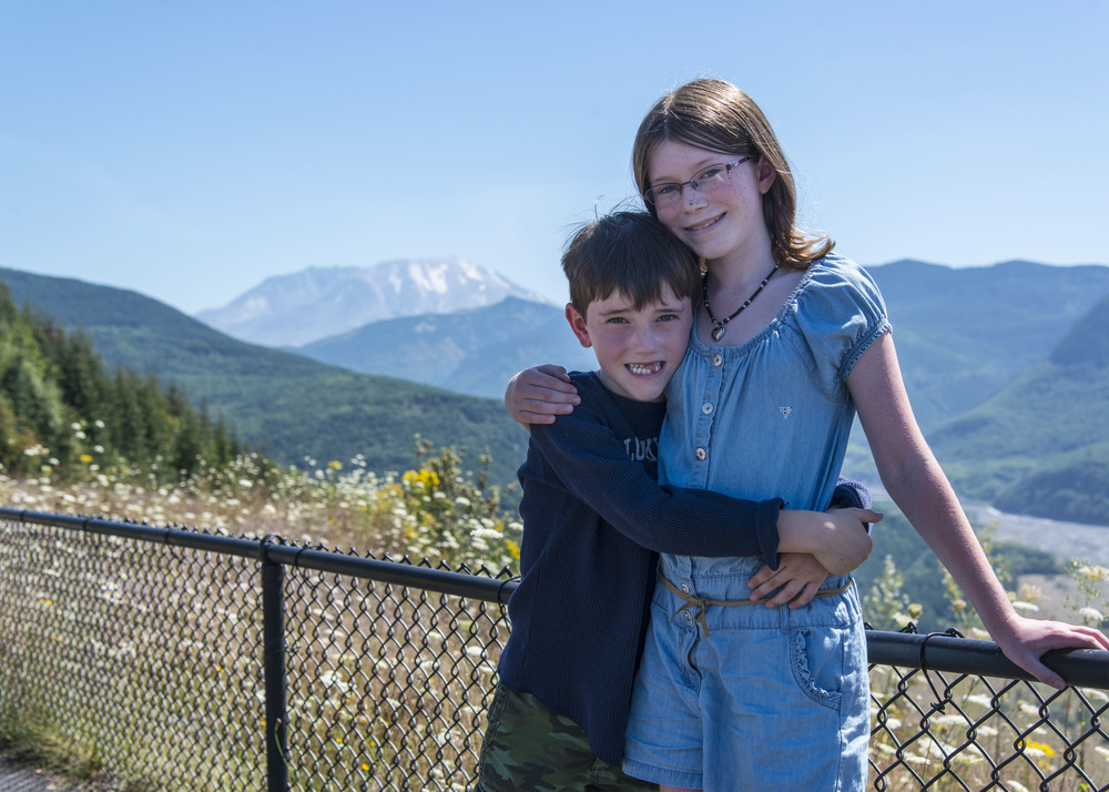 Samantha and Parker at Mt. Saint Helens.  Nikon D800, Nikkor 24-120mm lens @ 48mm, ISO 200, f5.6, 1/1000 sec.