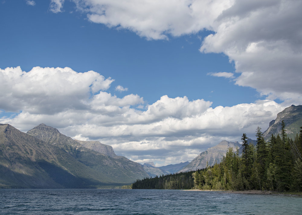 Lake McDonald, Glacier National Park.  Nikon D800, Nikkor 24-120mm lens @ 38mm, ISO 100, f8, 1/500 sec.