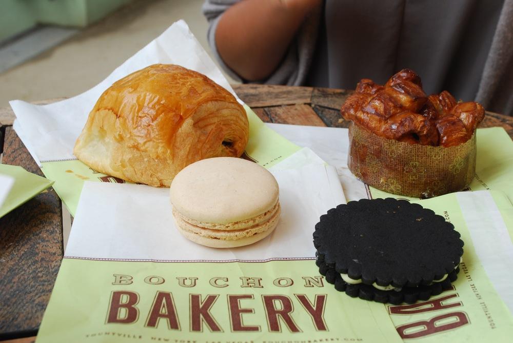 Pain au Chocolat, Monkey Bread, Vanilla Macaron & TKO, Bouchon Bakery, Napa