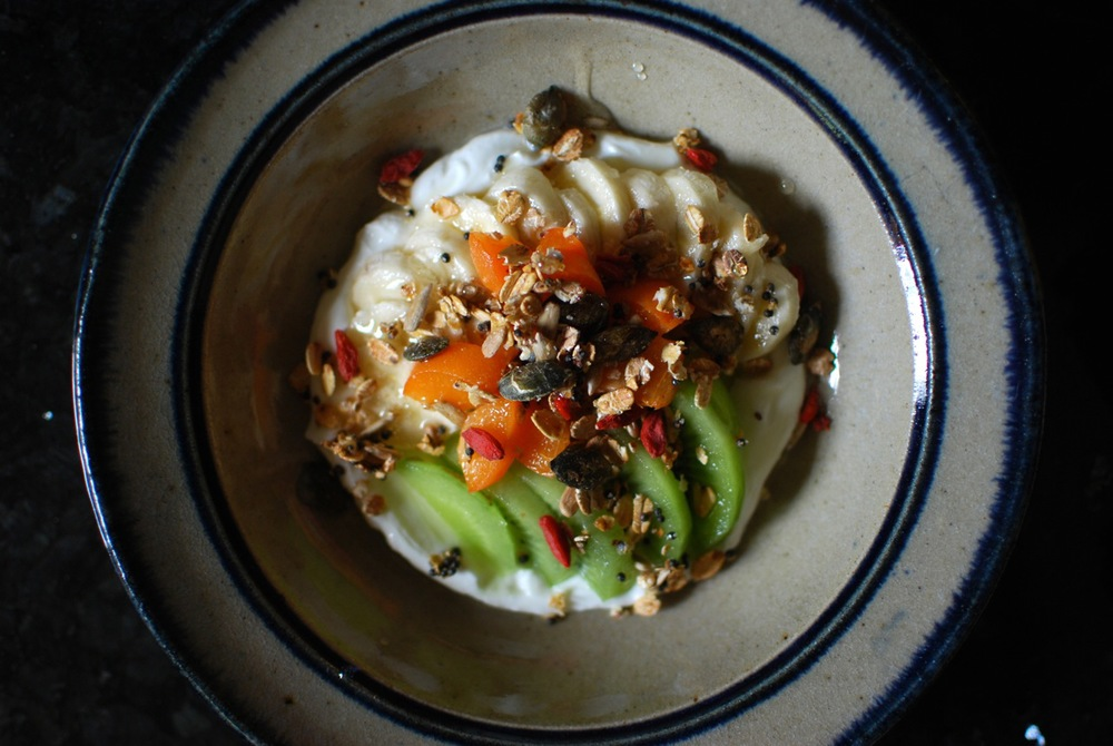 Shortcut Granola, Fresh Fruit and Greek Yoghurt Bowl