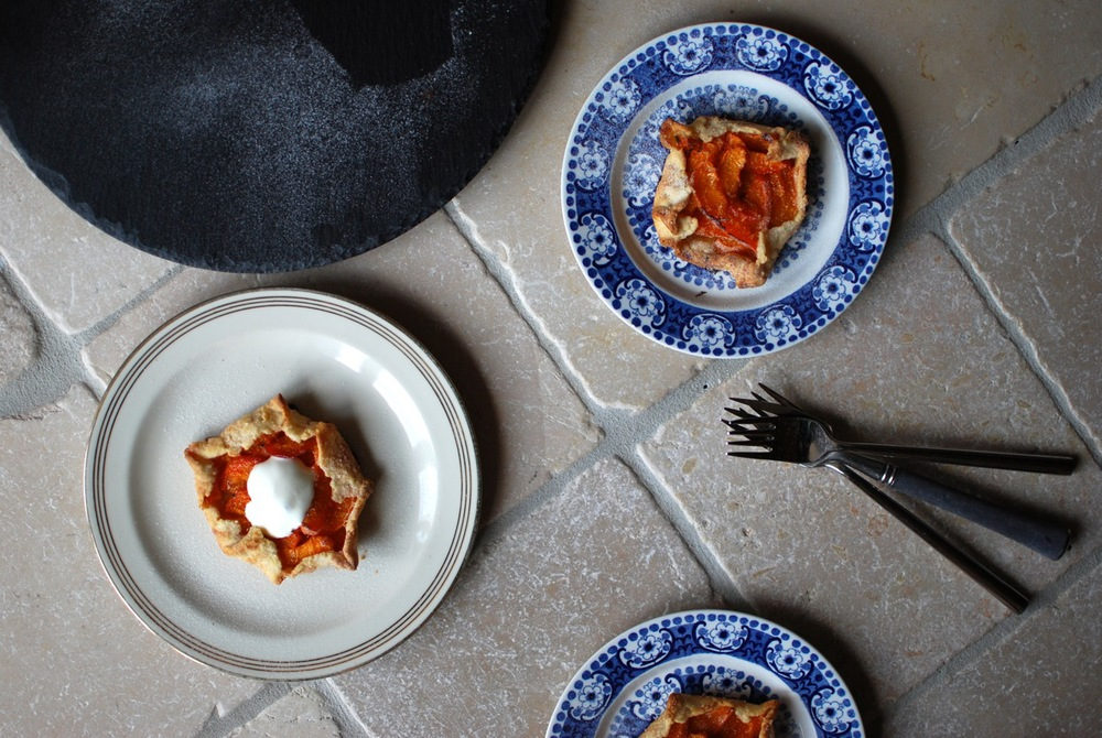 Individual Apricot + Rosemary Galettes served with Blanc Battu for breakfast