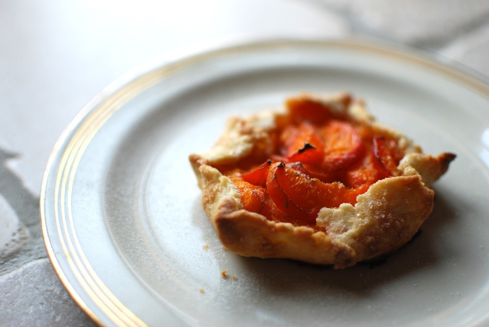 Mini Apricot + Rosemary Galettes
