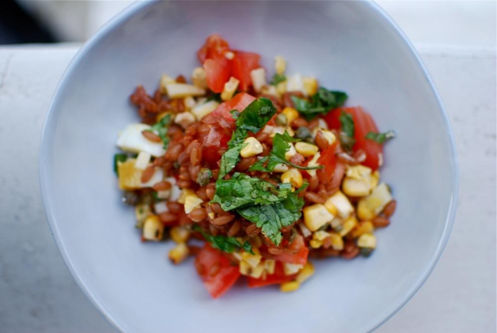 Peel-to-Stalk Spelt Salad, Round 1