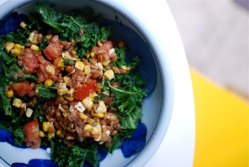 Kale + Spelt Salad