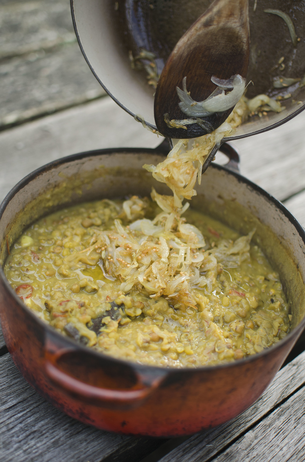 Mung Bean Dahl with a Fennel Seed Tarka (Moong Dal)