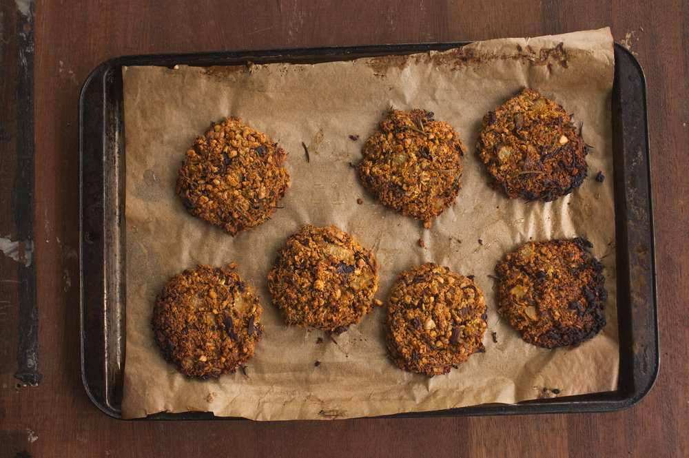 Sprouted Falafel Burgers (Vegan)