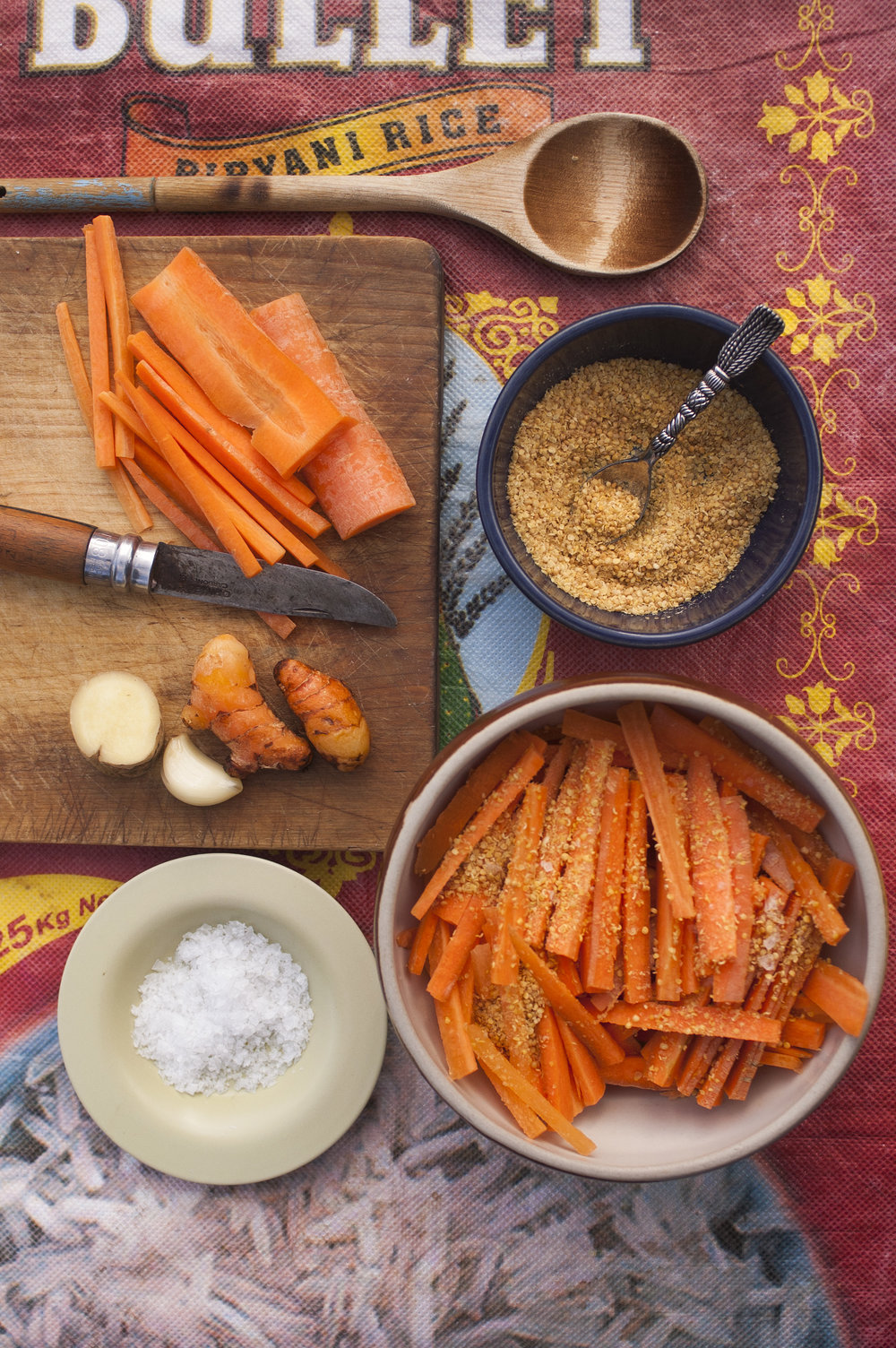 Mustard Fermented Carrots with Turmeric