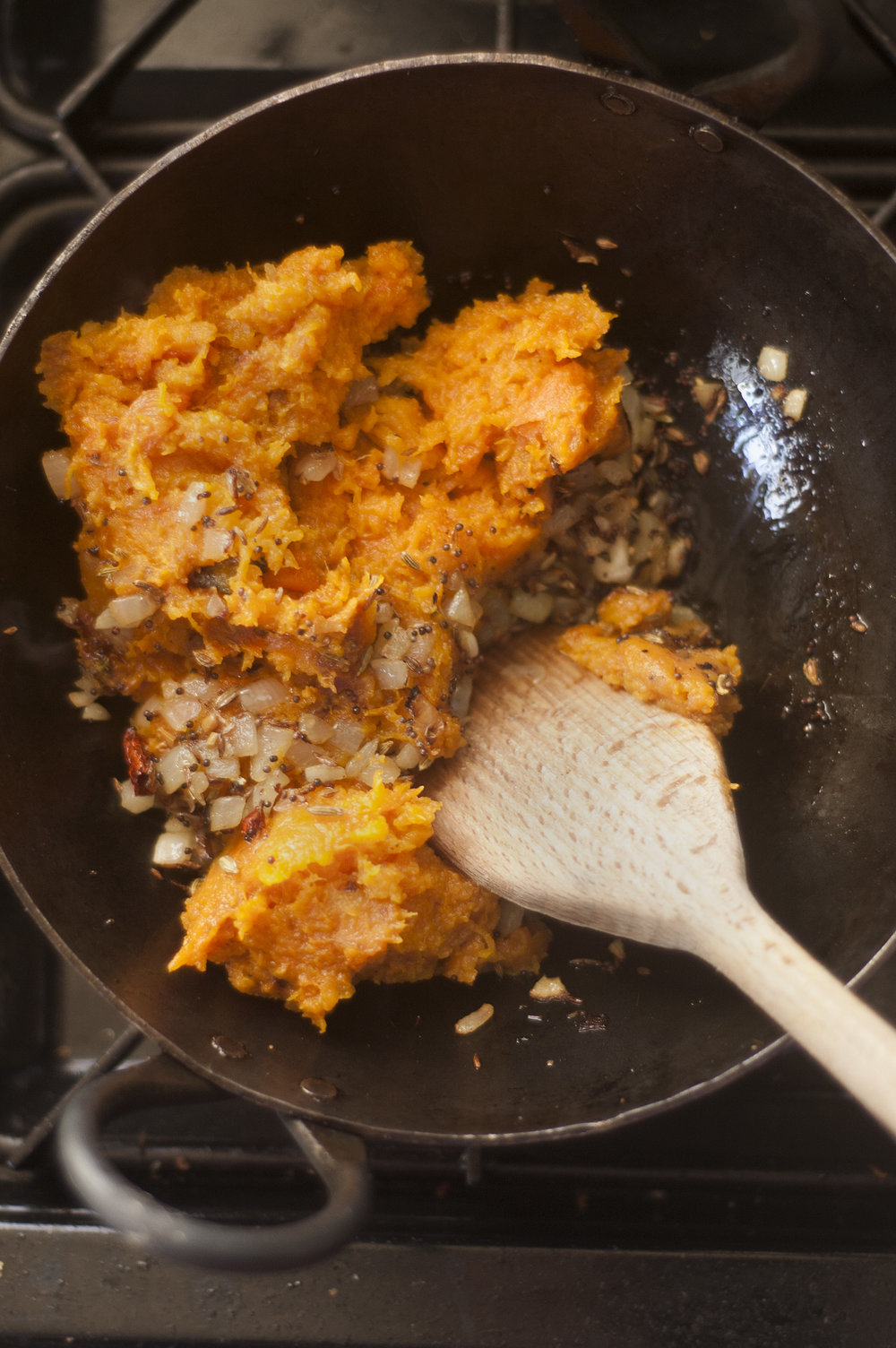 Butternut Squash mash with spices.