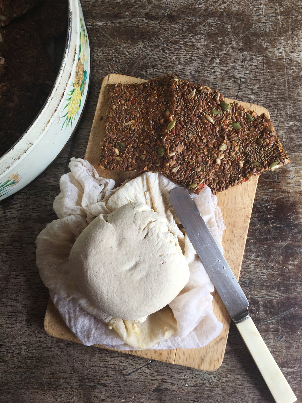 Cashew Cheese Burrata and Raw Crackers