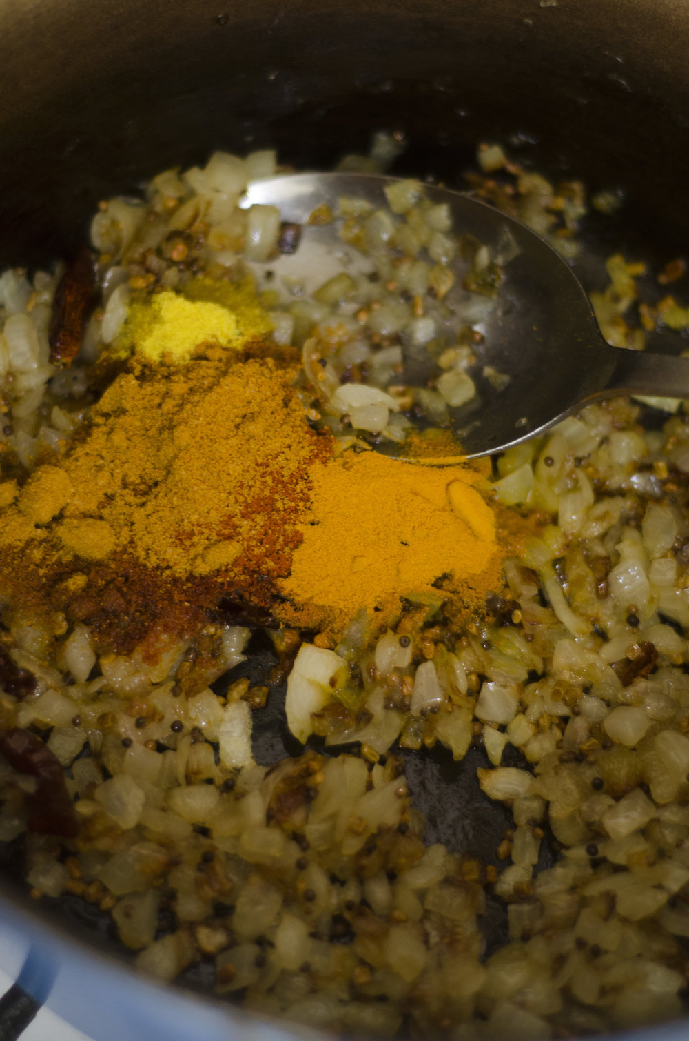 Yellow split pea dal with fenugreek