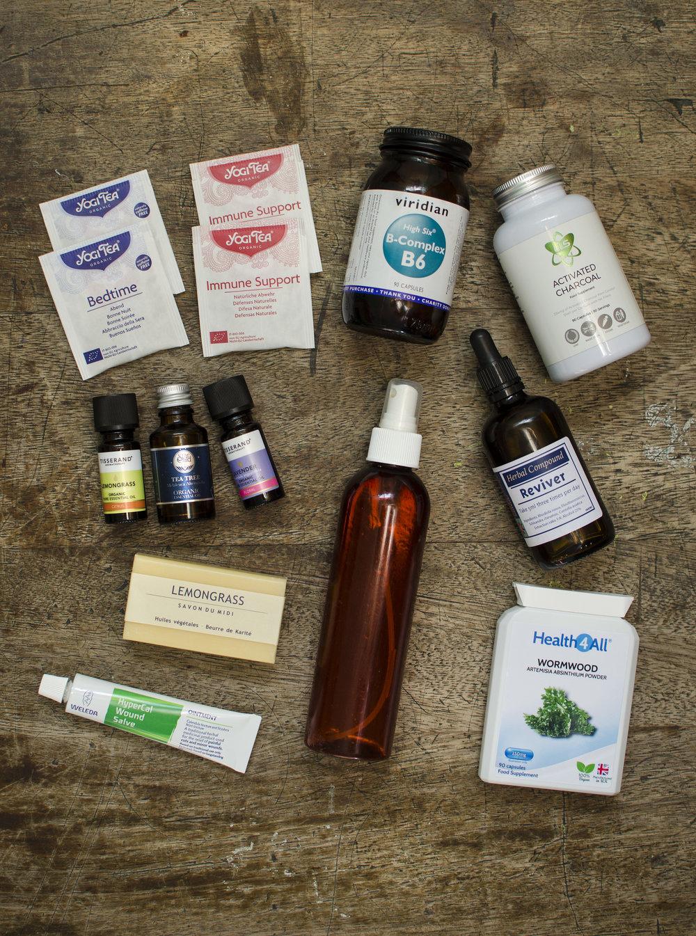 Travel Essentials Herbal Natural Remedies Supplements