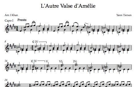 Lautre Valse Damélie Notation Imran Khan