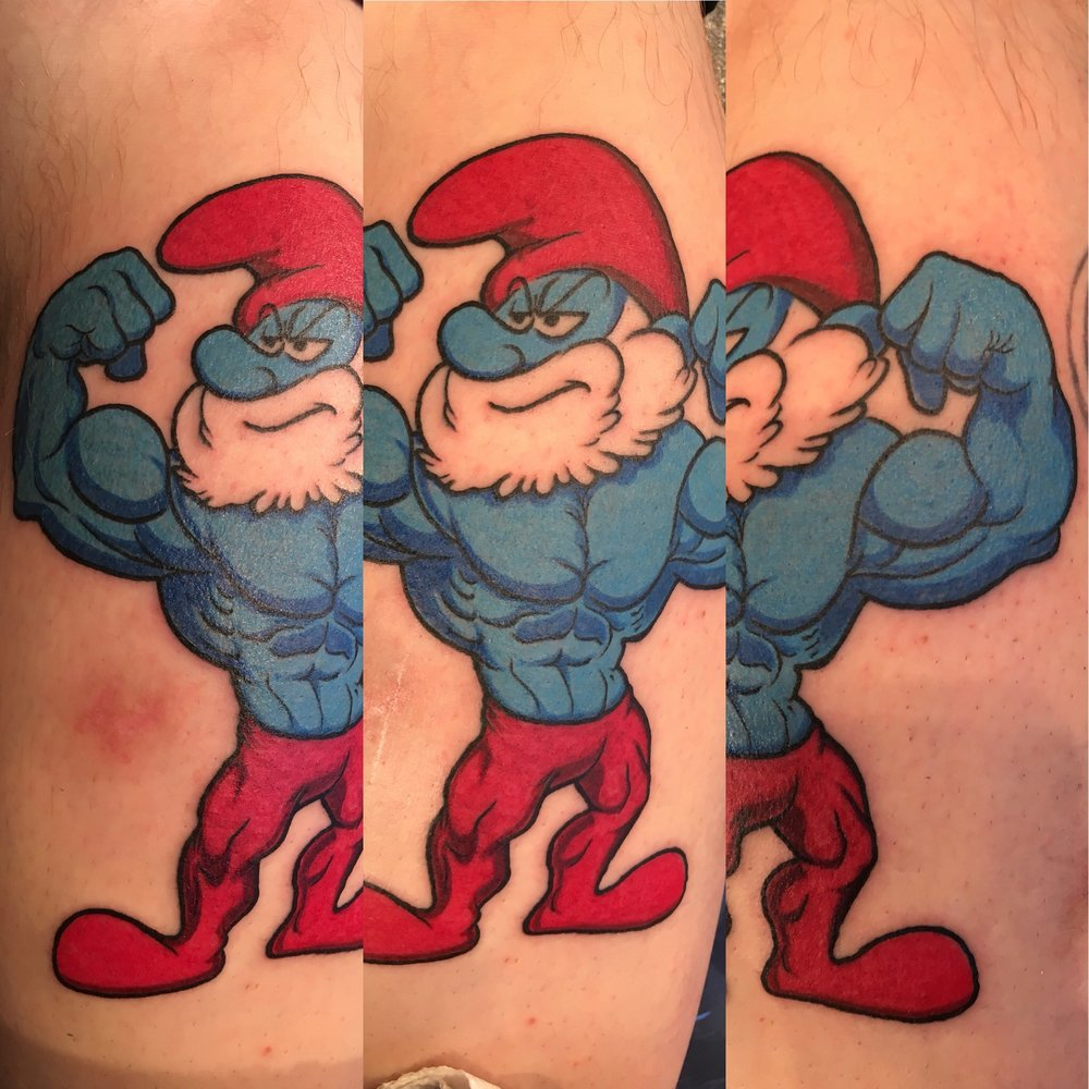 Buffed up Papa Smurf
