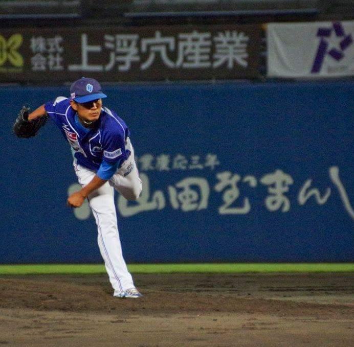 Pitching at Tokushima Indigo Socks - Shikoku League