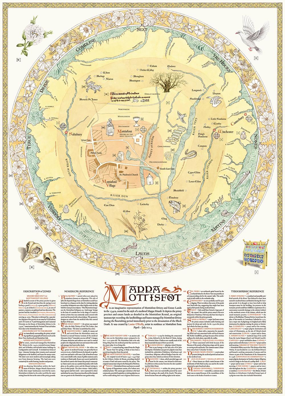 Mappa Mottisfont, 2014, A0 digital print