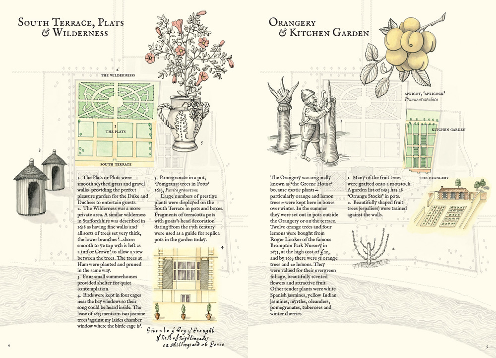 The Gardens at Ham House (detail), 2012, artist's book