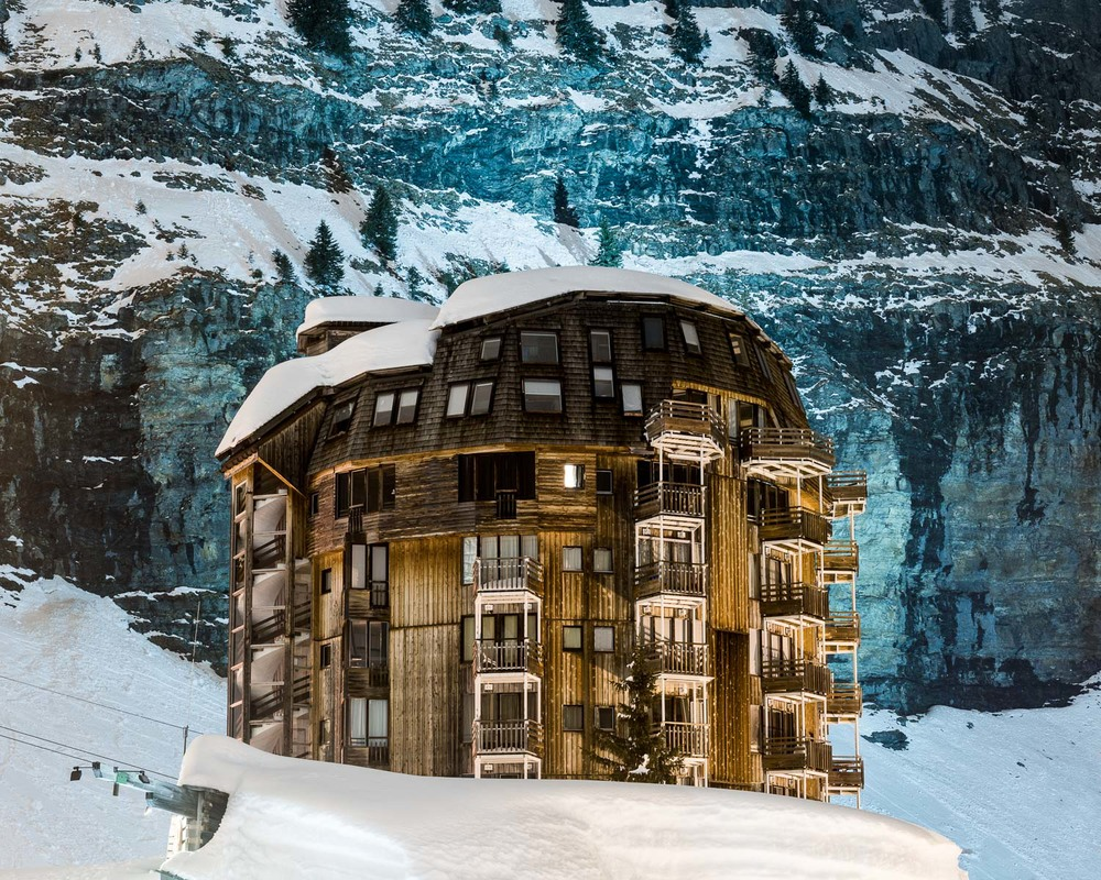 Résidence les Ruches (1972), designed by Jacques Labro, Avoriaz, France