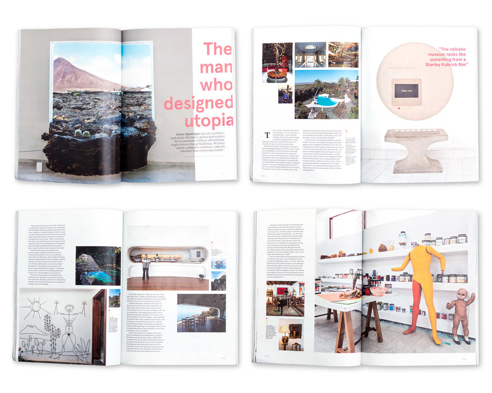 N by Norwegian magazine, July 2014: Cesar Manrique's Lanzarote
