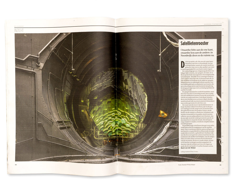 de Volksrant Newspaper, Holland October 2014: ESTEC