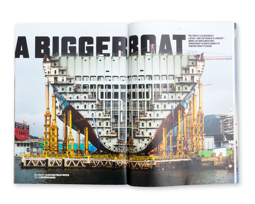 Wired magazine September 2014: Building the Biggest Ship in the World