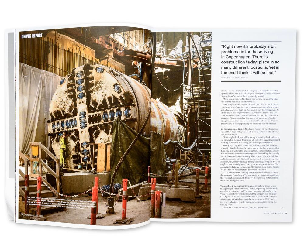Volvo: Inside Lane magazine Spring 2015: Building the Copenhagen Metro