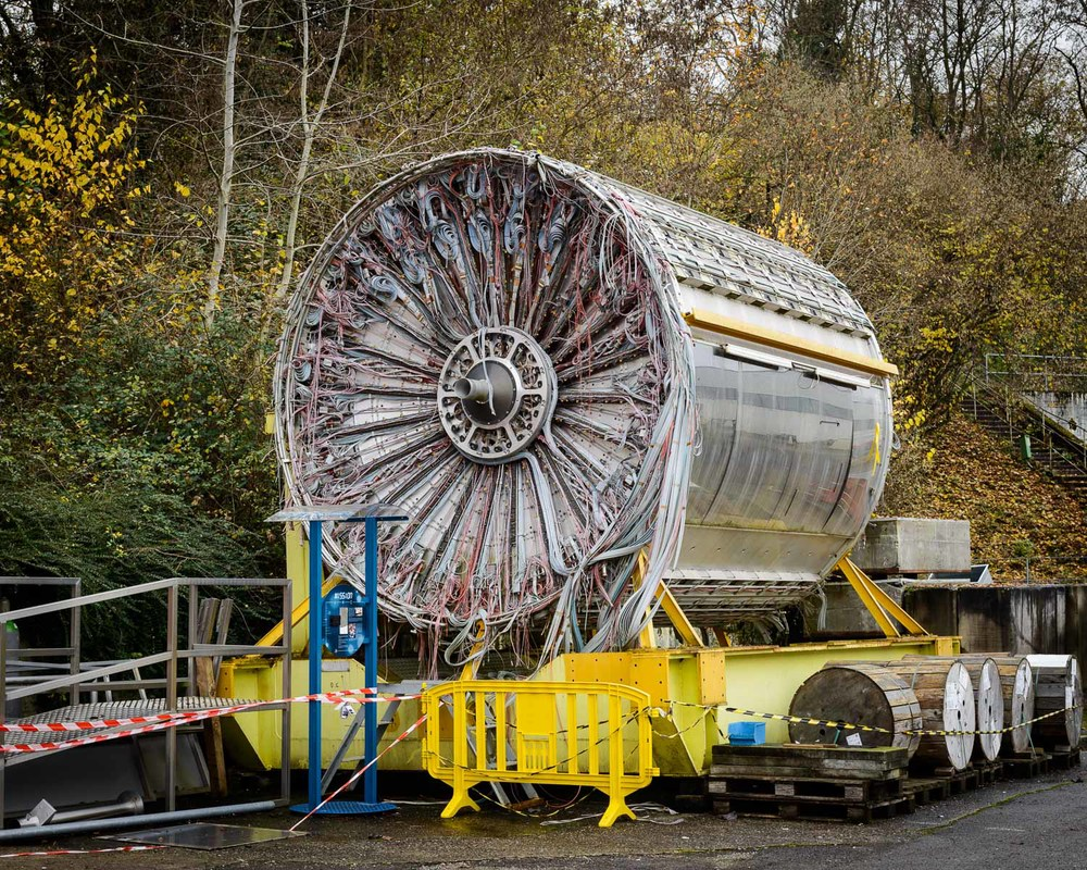 Part of the ISR particle accelerator that was decomissioned in 1984, at CERN, Switzerland
