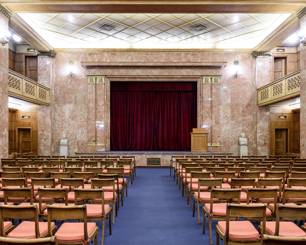 The auditorium of the Archeological Society at Athens, founded in 1837