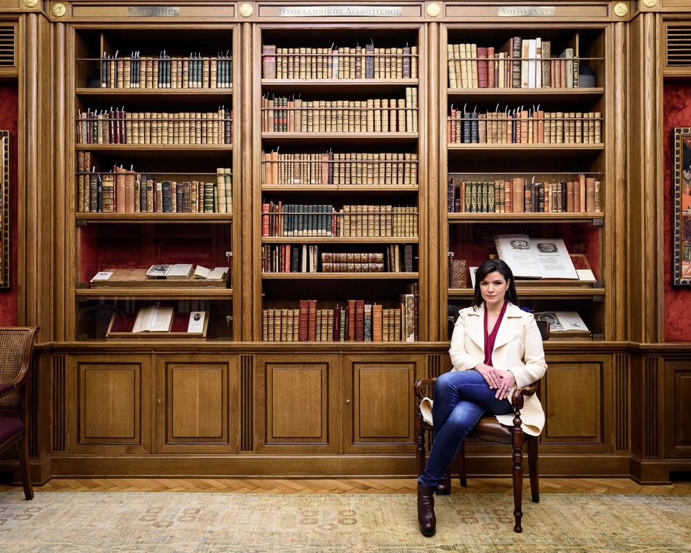 Aphrodite Panagiotakou, Vice-Director of the Onassis Cultural Center in the Hellenic Library