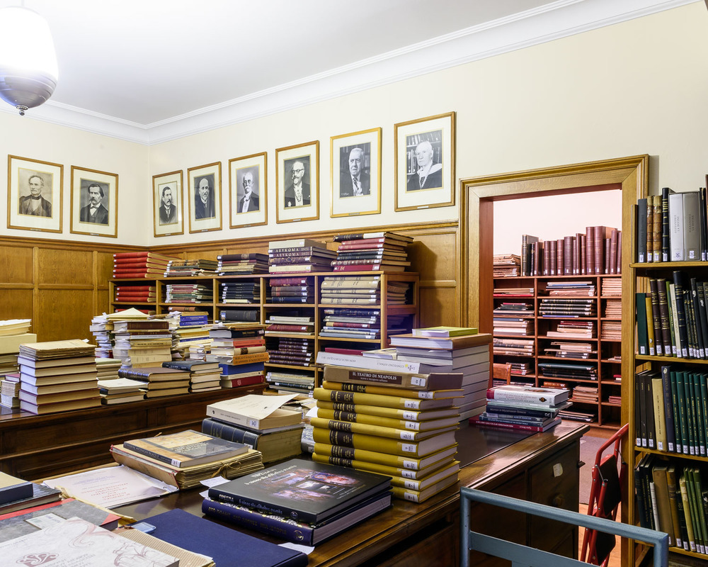 The Library at the Archeological Society at Athens, founded in 1837