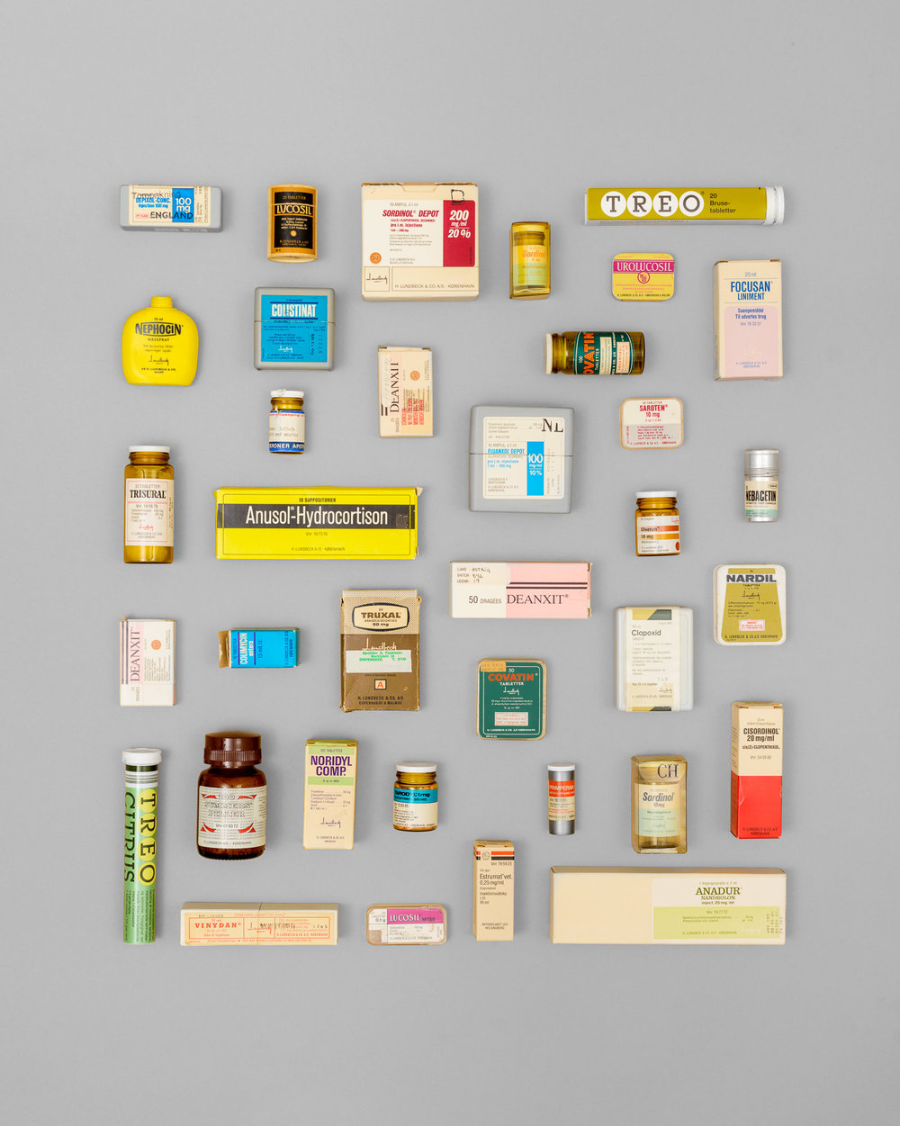 Vintage Lundbeck pharmaceutical packaging