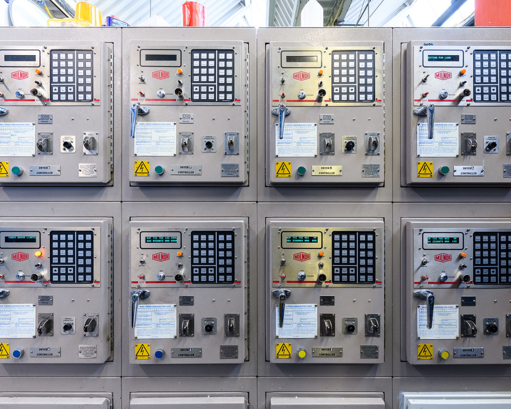 Control panels for the dryers