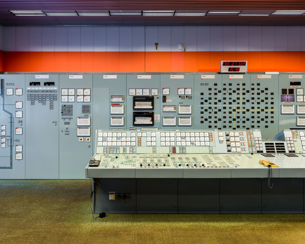 Control room at Barsebäck nuclear power station, Sweden