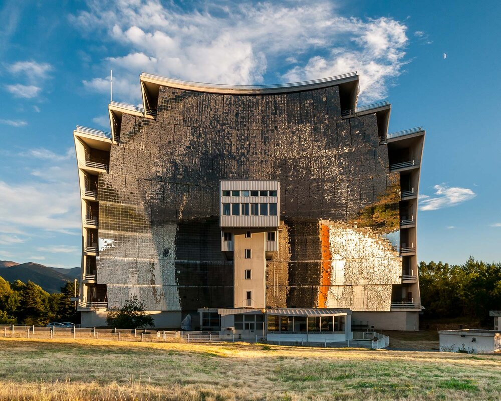The largest solar furnace in the world, Odeillo, France