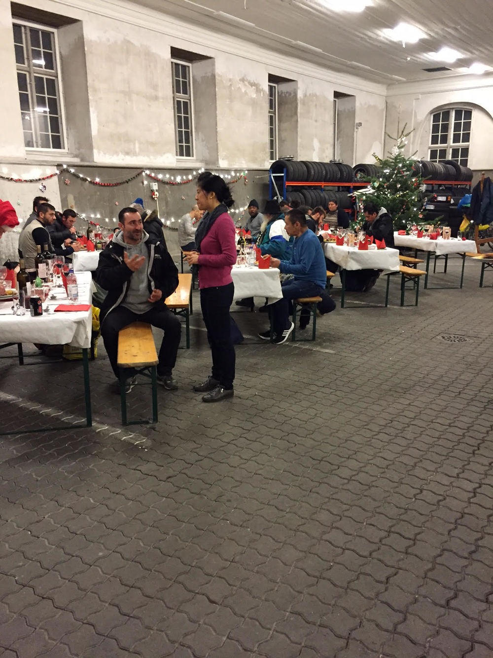 The December 24 Christmas Dinner at Amalienborg Palace, sponsored by Grace Cafe.