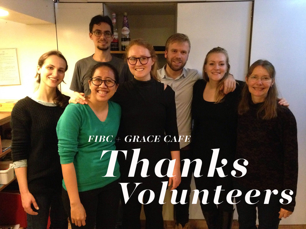 FIBC Volunteers, serving dinner to the homeless men and women at Grace Cafe in December.