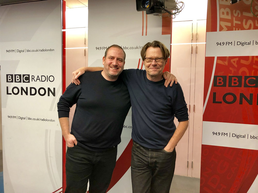 - Simon Boyle with Robert Elms at BBC Radio London
