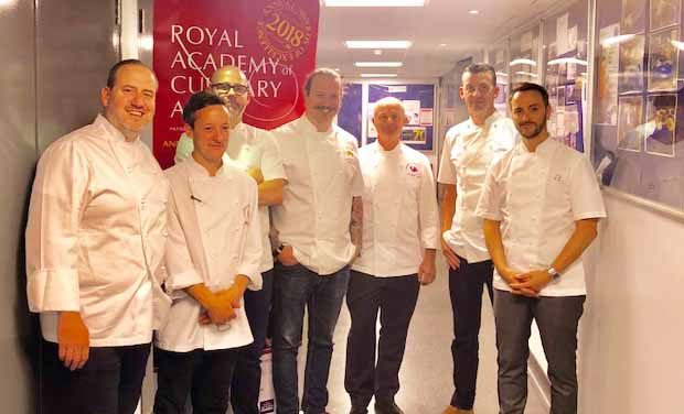 - With the other judges at the Royal Academy of Culinary Arts